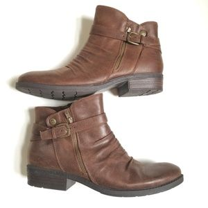 BareTraps Yasmyn Dark Brown Side Zip Ankle Boots S